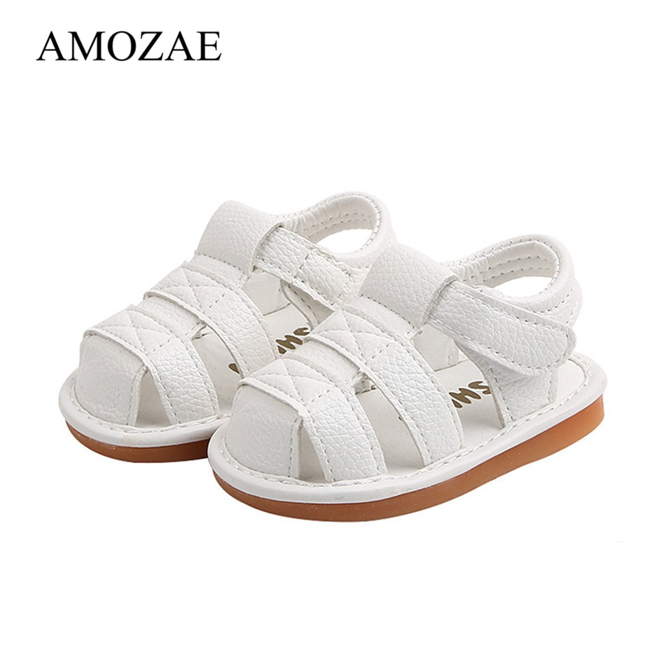 2021 Summer Baby Shoes Crystal Princess Toddler Cute PU Leather flat hard sole