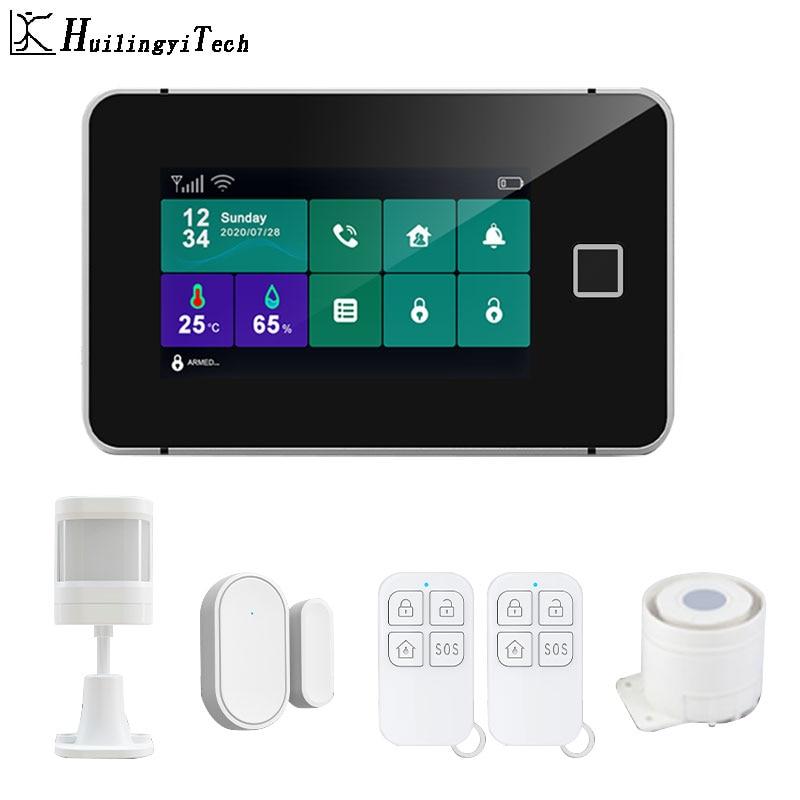 Home alarm system Tuya smart life Gsm Wifi alarm detector Fire Gas leaks protection system smart motion sensor