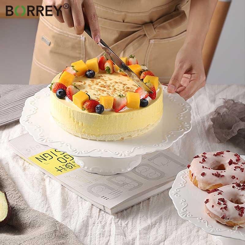 بوري سيراميك طبق تقديم الحلوى الخزف الإغاثة الفاكهة الخبز كعكة لوحة حامل صينيّة تقديم دائريّة كومبوت وجبة خفيفة أطباق زفاف ديكور
