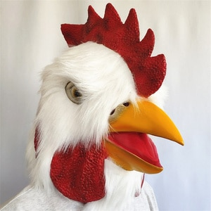 Rooster Mask 2021 Halloween Novelty Costume Party Latex Chicken Mask Animal Head Mask Rooster Cock Funny Mask