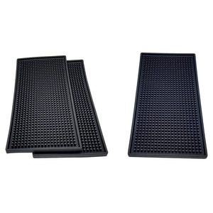 Non-Slip Beauty Salon Mat Black Elastic PVC Heat-Resistant Salon Shop Work Mat Hair Stylist Tools Hair Dryer