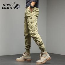 2021 Winter Men Cotton Casual Cargo Warm Cross Joggers Sweatpants Men Autumn Fashion Elastic Pantalo