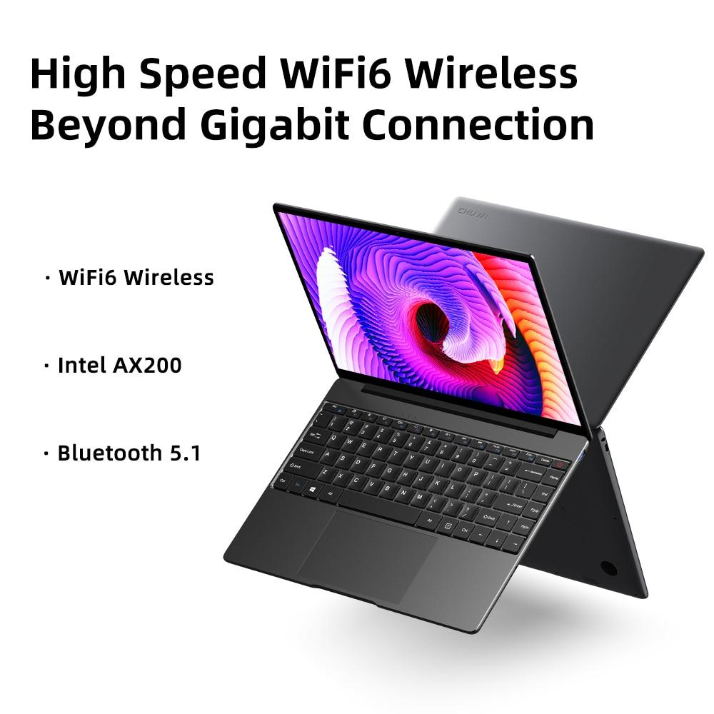 CHUWI GemiBook Pro 14 inch 2K Screen Laptop 12GB RAM 256GB SSD Intel Celeron Quad Core Windows 10 Computer with Backlit Keyboard 10
