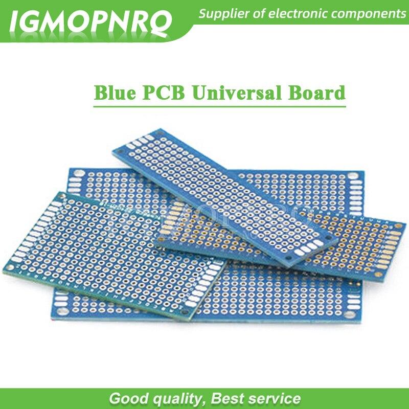 1 stücke Doppelseitige Protoboard Steckbrett Universal-Board blau PCB 2*8cm 3*7cm 4*6cm 5*7cm 7*9cm 2,54mm