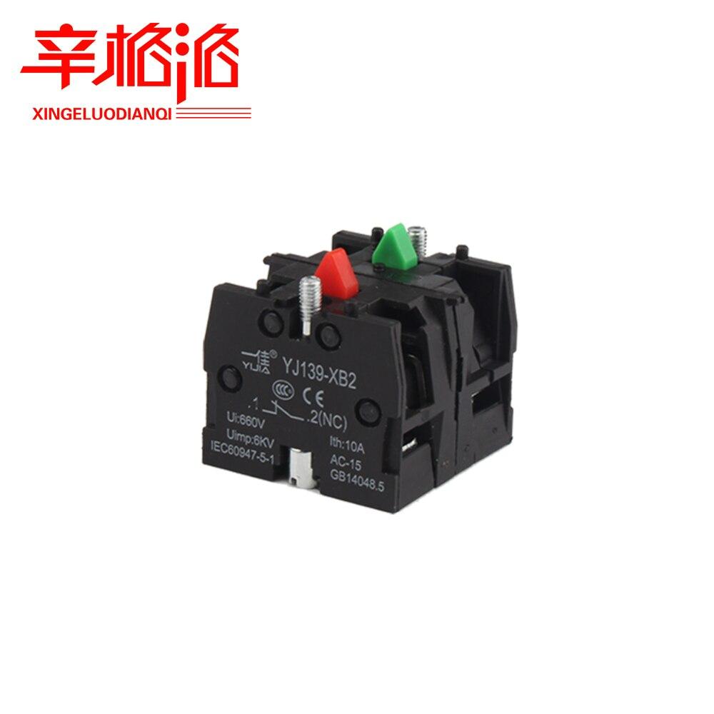 YIJIA YJ139-XB2 interruptor de botón ZB2BE102C (NC) ZB2-BE101C bloque de contacto (NO) accesorios