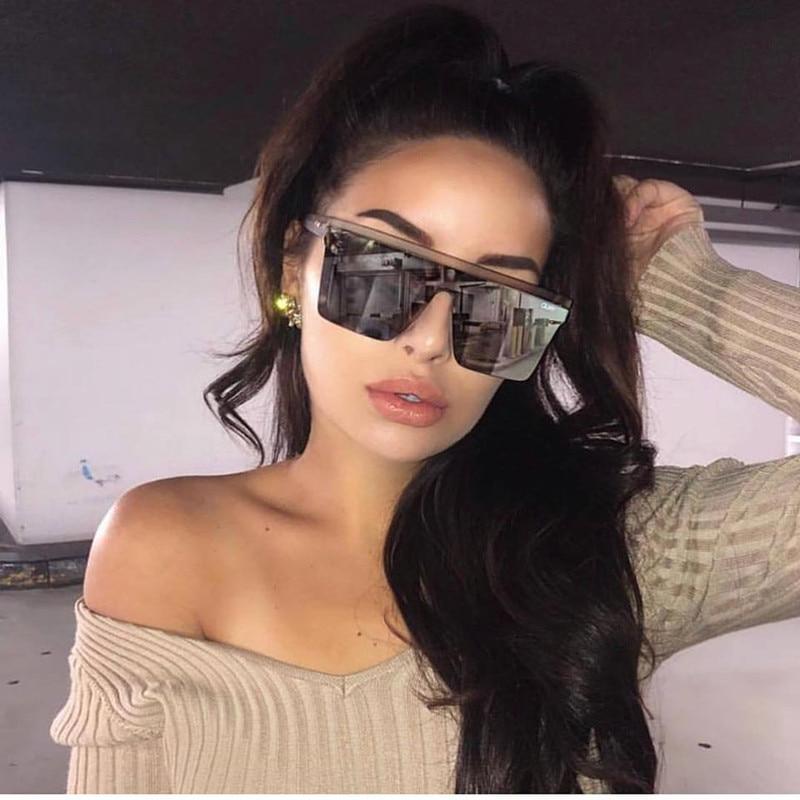 15 colors Flat Top Sunglasses Men Women Brand Designer Square Shades Gradient Sun Glasses Men Cool O