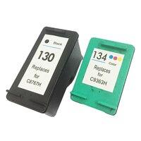 Vilaxh 130xl 134 Compatible Ink Cartridge Replacement for HP 130 134 xl Deskjet 5943 6543 5743 6623 5743 6843 6523 6943 printer