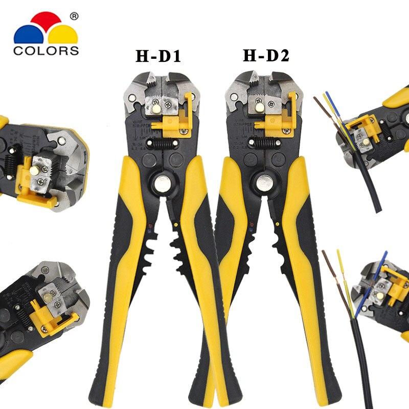 Multi ferramentas alicate cortador de stripper cabo fio capacidade 0.25-6mm2 H-D1 H-D2 crimper ferramentas de reparo elétrico acutatic