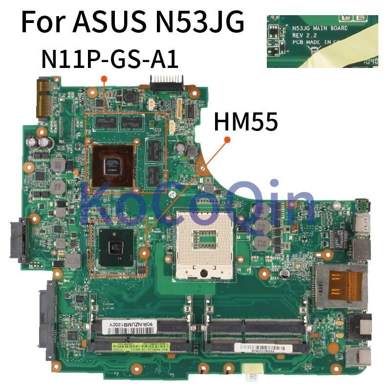 Placa-mãe do Portátil para Asus Kocoqin Mainboard N11p-gs-a1 Testado N53jg Rev.2.2 Hm55