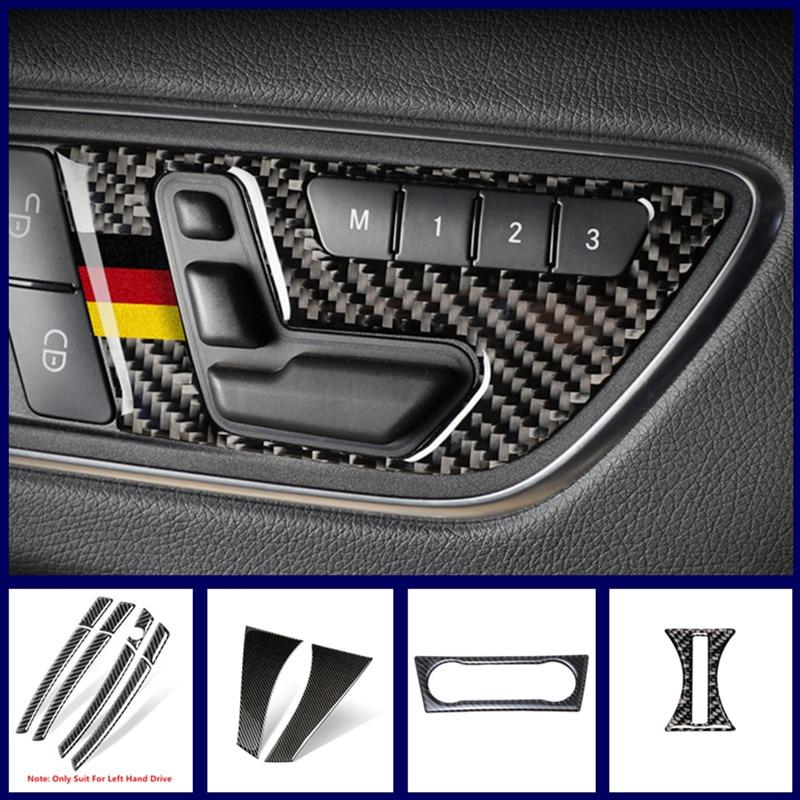 Carbon Fiber Car Center Console CD Frame Decoration For Mercedes Benz CLA C117 GLA X156 A W176 2013-18 Water Cup Sequins