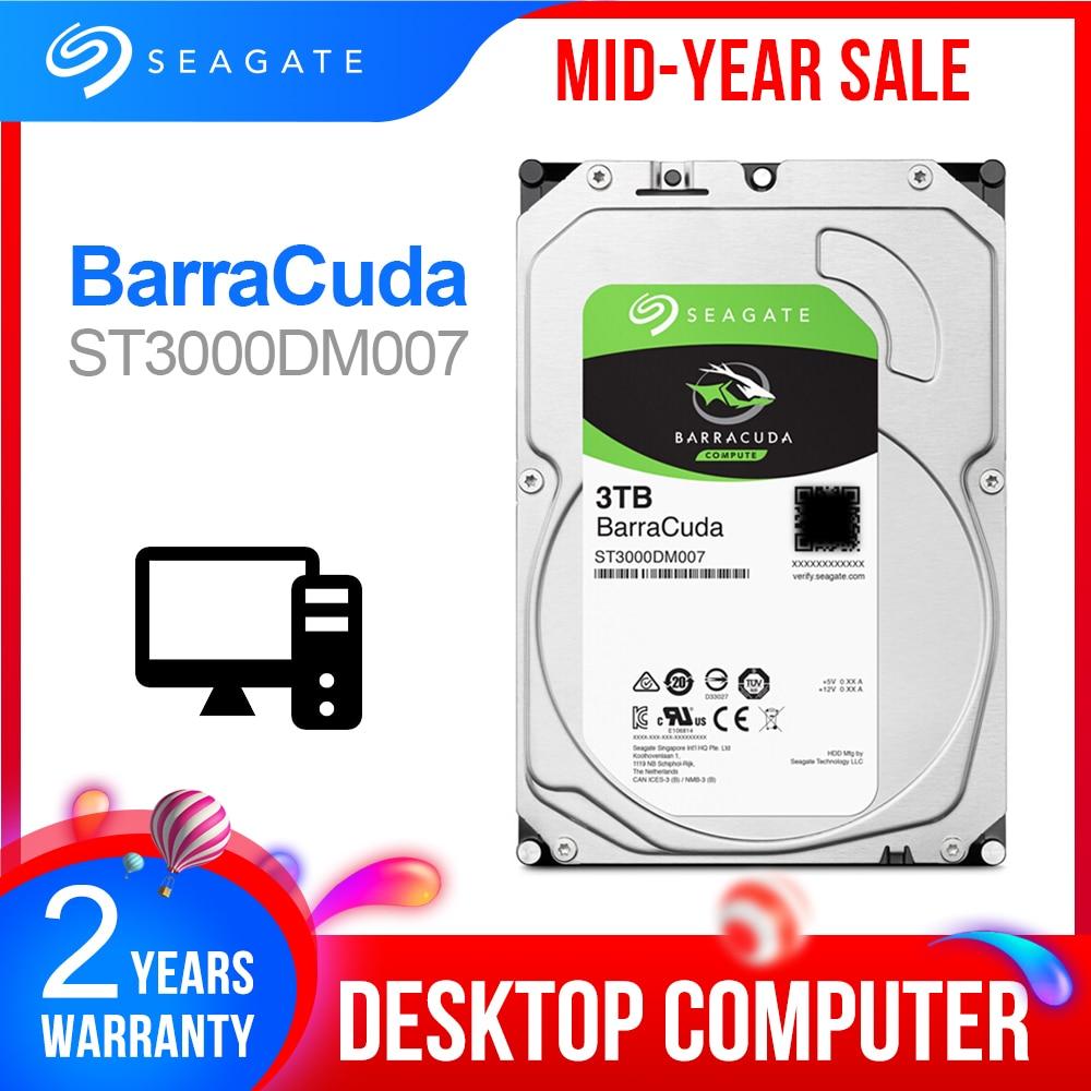 Seagate 3,5 3 ТБ Настольный HDD внутренний жесткий диск оригинальный 3 ТБ 5400RPM SATA 6 ГБ/сек. жесткий диск для компьютера ST3000DM007