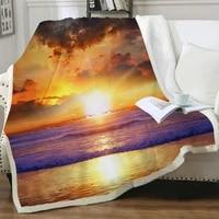 nknk brank sun blanket galaxy bedding throw cloud thin quilt ocean 3d print sherpa blanket fashion high quality pattern winter