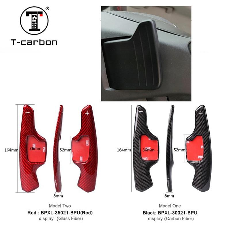 T-carbono estilo do carro volante mudança pás para ford C-MAX e350 roadster convertible mondeo foco ranger fiesta conversão