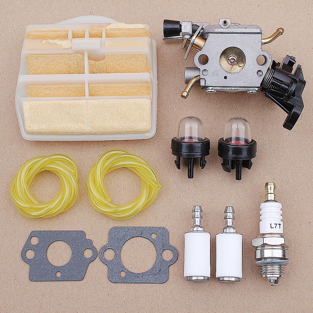 Kit Linha De Combustível Filtro de Ar Do carburador para Husqvarna 445 450 445E C1M-EL37B CS2245S 506450401 ZAMA CARB Motosserra JONSERED 506450401