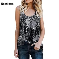2021 summer womens camis leisure casual tank tops sleeveless flower print tshirt plus size 3xl femme tops strappy vest clothing
