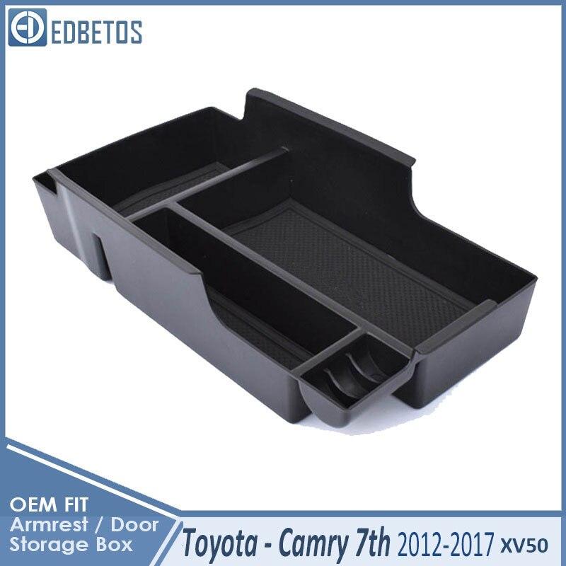 Camry Car Armrest Box Center Console Storage Glove Box Organizer Insert Tray For Toyota Camry 2012 2013 2014 2015 2016 2017