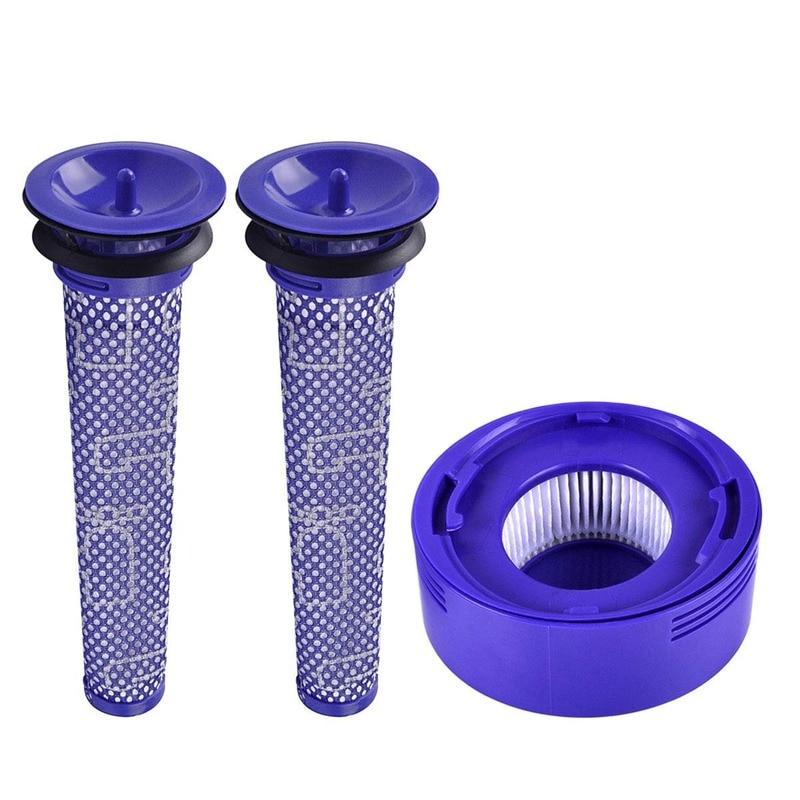 Pré e pós substituição do filtro do motor para dyson v8 e v7 pacote de filtro de vácuo sem fio, pacote da família para o seu dyson vac