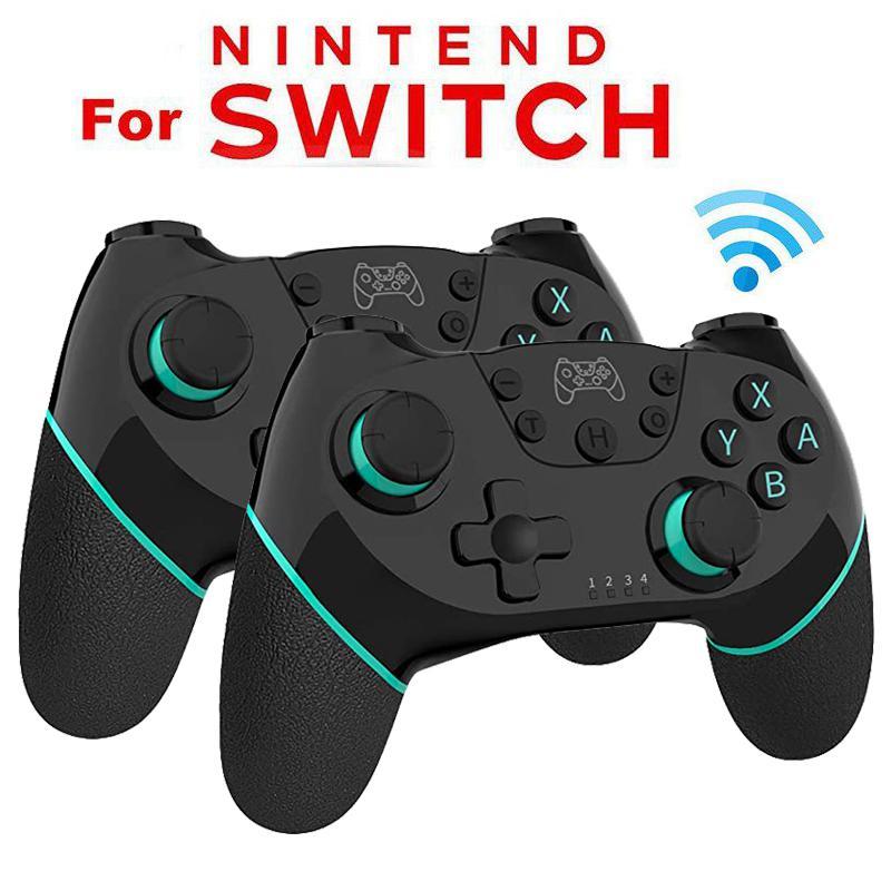 Gamepad inalámbrico Bluetooth controlador de juego Joystick con 6-eje manejar para Nintend Switch Pro controlador de doble Motor de vibración
