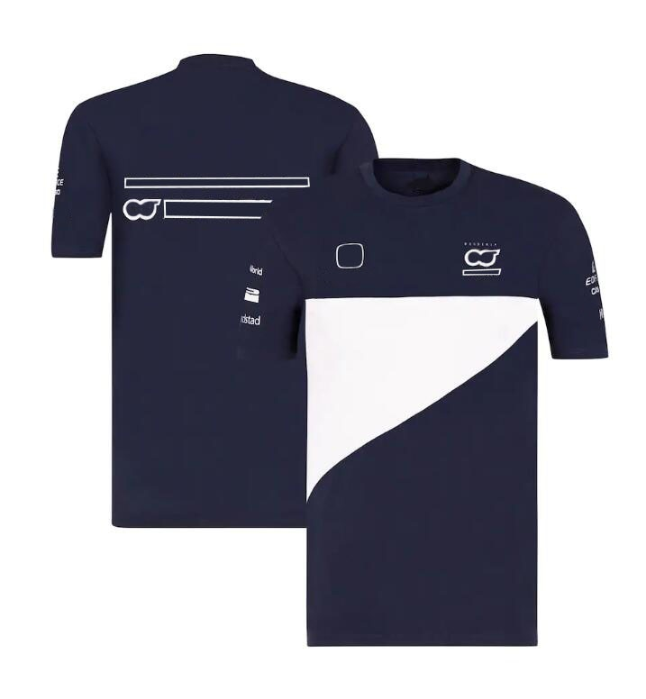 2021 new F1 Team T-shirt short sleeves, F1 racing round neck T-shirt, the same style is customized black spell color round neck long sleeves t shirt