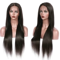 26%e2%80%98%e2%80%99 long lace front wigs deep part synthetic smooth straight synthetic wig for women pre plucked with natural hairline