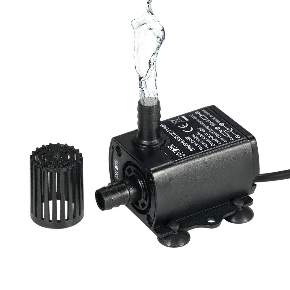 Ultra silencioso USB DC5V 4,8 W 300L/H elevador 300cm bomba de agua sin escobillas fuente sumergible impermeable con función de ajuste de flujo