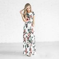 2020 summer women print fashion elegant casual party dress o neck short sleeve pockets chic beautiful sundress female vestidos