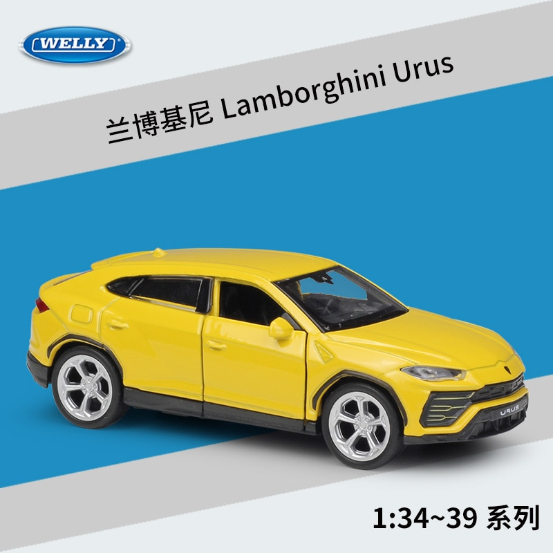 WELLY 136 lamborgini Urus modelo de aleación de coche modelo de Metal vehículos con caja para regalo de coleccionables