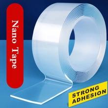 1M/5M โปร่งใสเทปสองด้าน Nano Self-กาวเทปไม่มีร่องรอย Reusable เทปกาวสติกเกอร์สำหรับรถห้องครัวห้องน้ำ