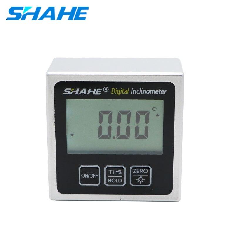 SHAHE Hohe Präzision Elektronische Goniometer Neigungs Digitale Ebene Winkel Finder Winkel Messung Box