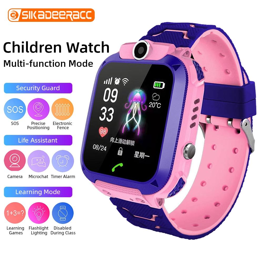 Q12 Chat de voz reloj inteligente IP67 niños Digital de larga espera de la Cámara llamada SOS reloj despertador Ultra delgado buscador de chico iluminación localizador