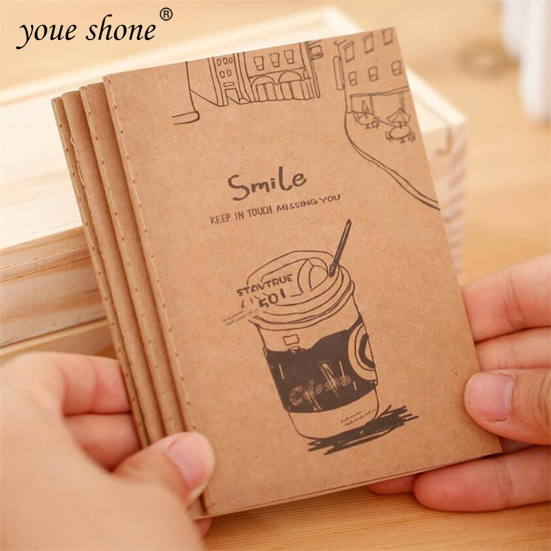 1PCS Retro Cowhide Notebook Student Cute Soft Face Copy Small Book Carry Cartoon Stationery Sketch Supplies Wholesale 40packs lot cowhide korean retro exercise book student cute soft face copy small book cartoon notebook