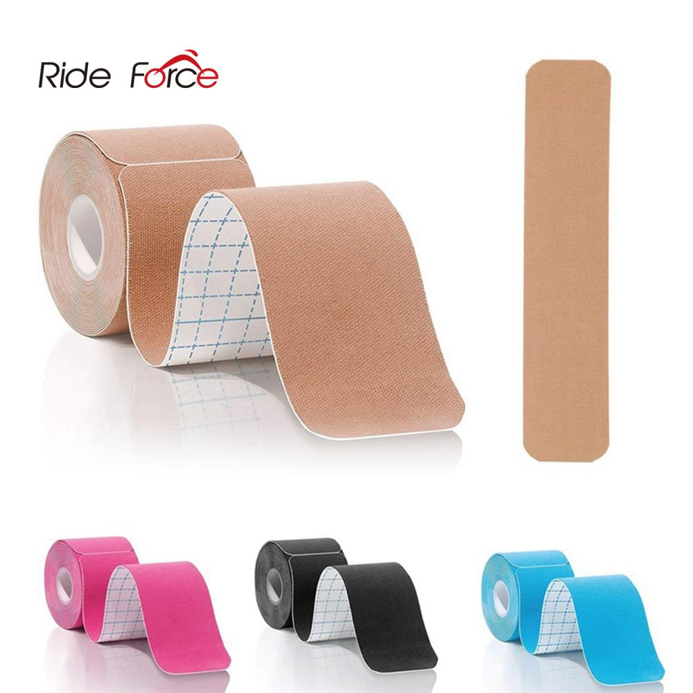 5cm*5m Pre Cut Kinesiology Muscle Tape Elastic Roll Kneepads Adhesive Bandage Protective Gear Sports