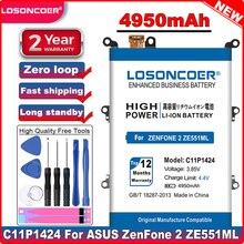 LOSONCOER de alta capacidad 4950mAh C11P1424 batería para Asus Zenfone 2 ZE550ML ZE551ML batería de 5,5 pulgadas Z00AD Z00ADB Z00A Z008D