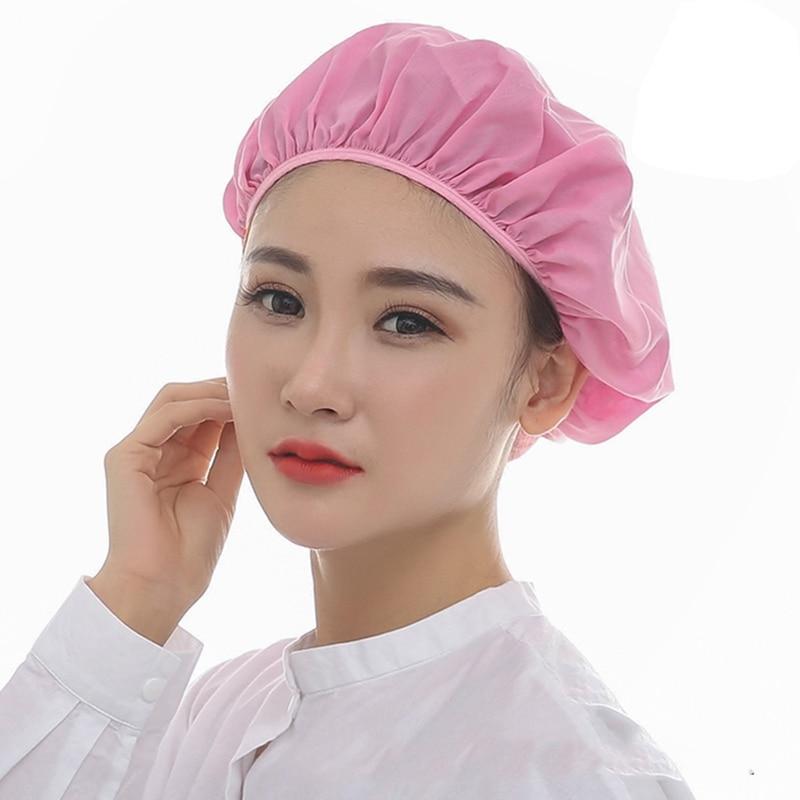 Hot Workshop Uniform Work Cap Dust Hat Elastic Mesh Caps Chef Hat Food Service Chef Caps Washable Work Wear Hats Unisex