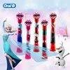 אוראלי B ילדי חשמלי מברשת שיניים ראשי קפוא Utral רך שן מברשת ראשי עגול מברשת ראשי 4 hedas עבור 3 + ילדים