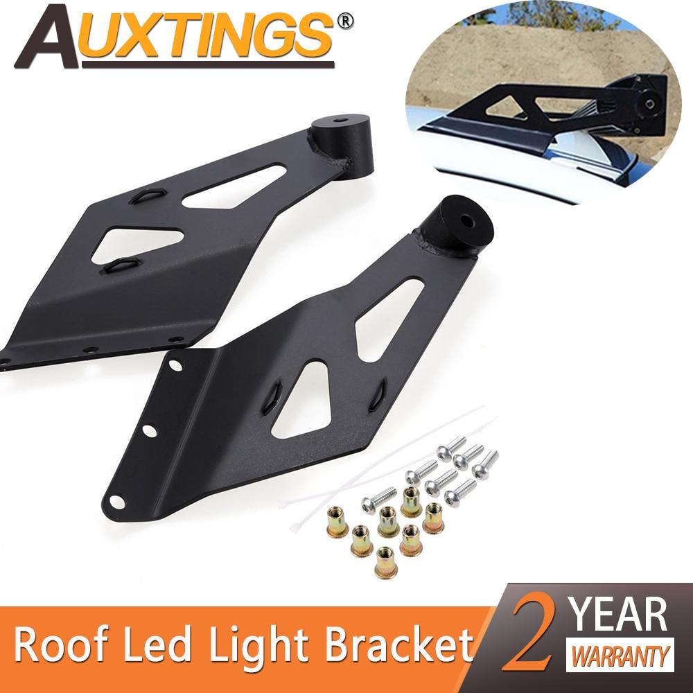 Soportes de montaje para barra de luz auxings Cuvred, un par para barra de luz LED de obra de 50 pulgadas, soportes de barra de luz superior para parabrisas