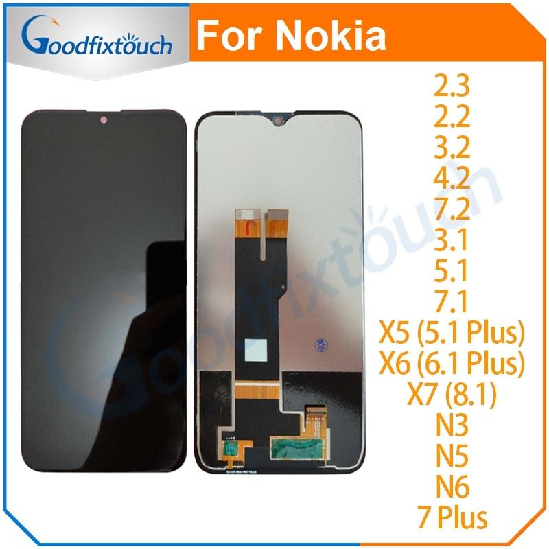 LCD para Nokia 2,3, 2,2, 3,2, 4,2, 7,2 X5 X6 X7 8,1, 5,1, 6,1, 7,1 7 Plus 7 7 pantalla LCD pantalla táctil de cristal digitalizador Asamblea