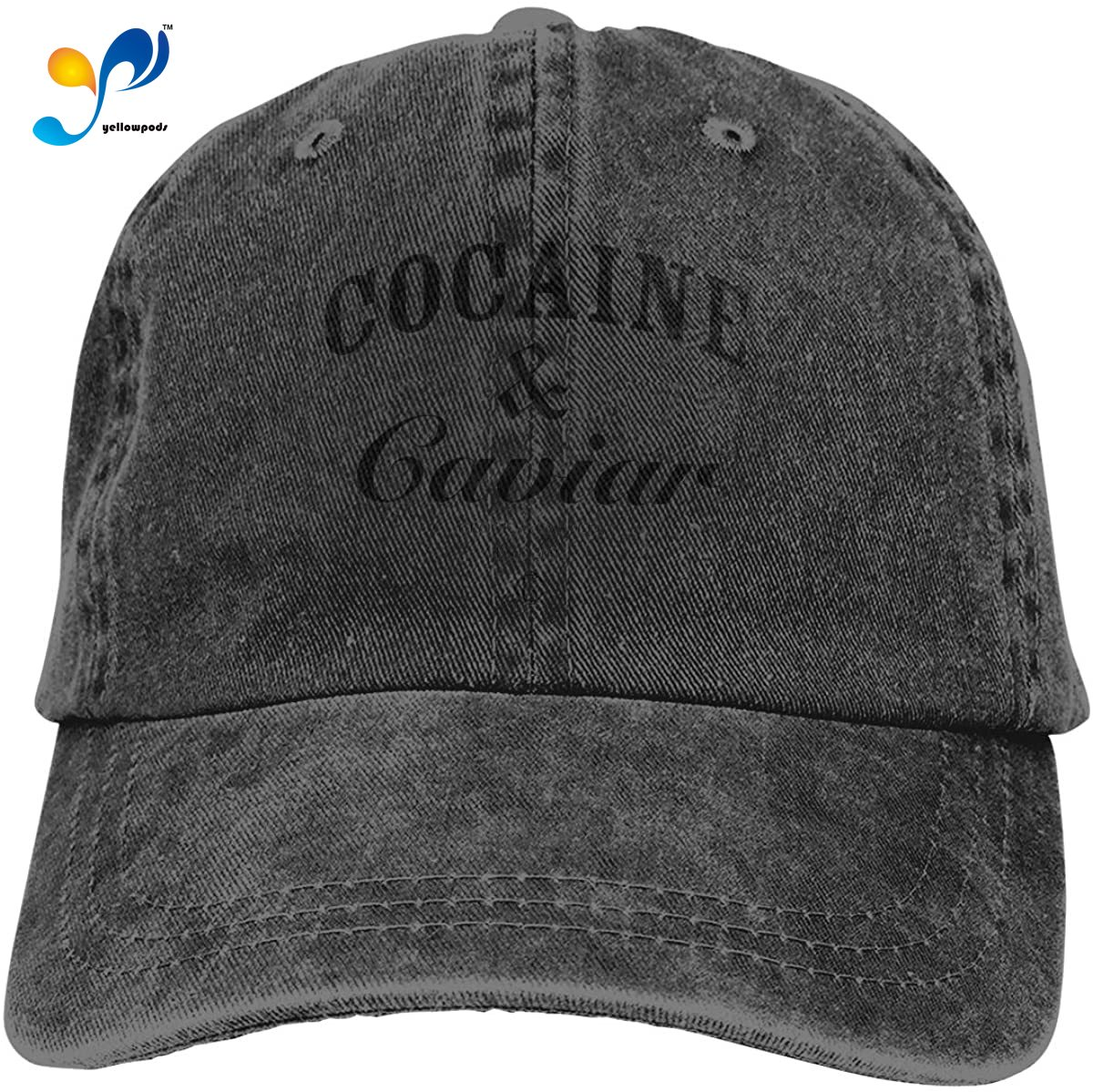 AiFuShi Cocaine Caviar Sports Denim Cap Adjustable Snapback Casquettes Unisex Plain Baseball Cowboy Hat Black