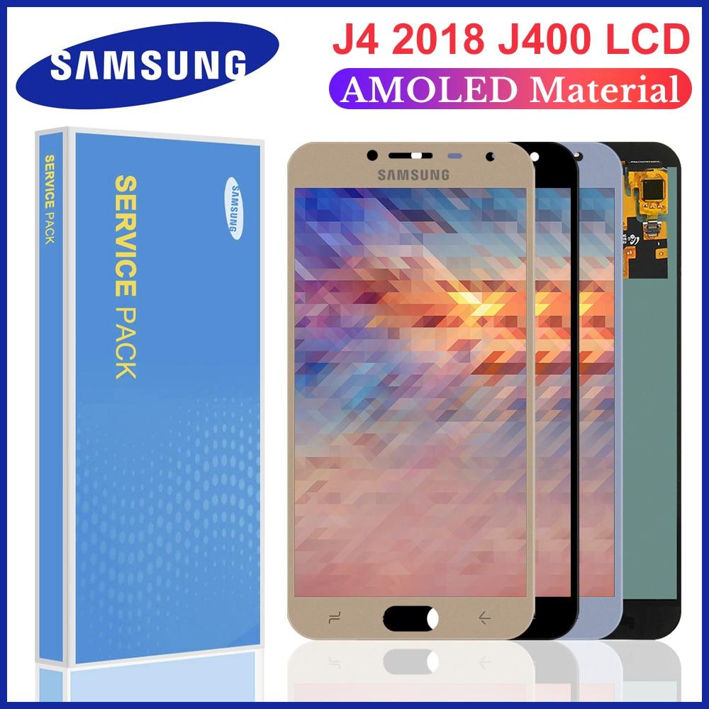 Para j400 amoled lcd para samsung galaxy j4 j400 j400f j400g/ds SM-J400F display lcd tela de toque digitador assembléia 5.5 polegada