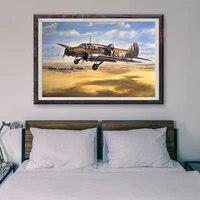 T062     peinture classique retro 17 operations de vol davion de guerre  affiche en soie personnalisee  decoration murale  cadeau de noel