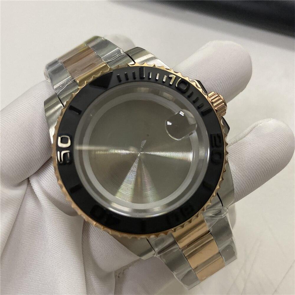 Caixa de Relógio Inoxidável com Pulseira Reparo para Eta2836 para Miyoda 8200 para Mingzhu Peças Série Assista Movimento 8215