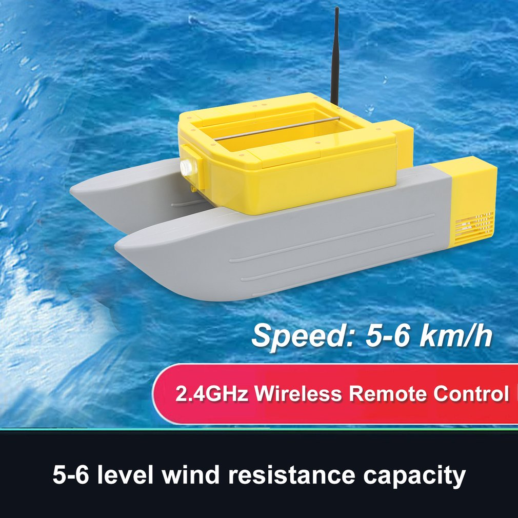 T168 RC Boat Intelligent Wireless Electric Fishing Bait Remote Control High Speed Boat Dual Warehous