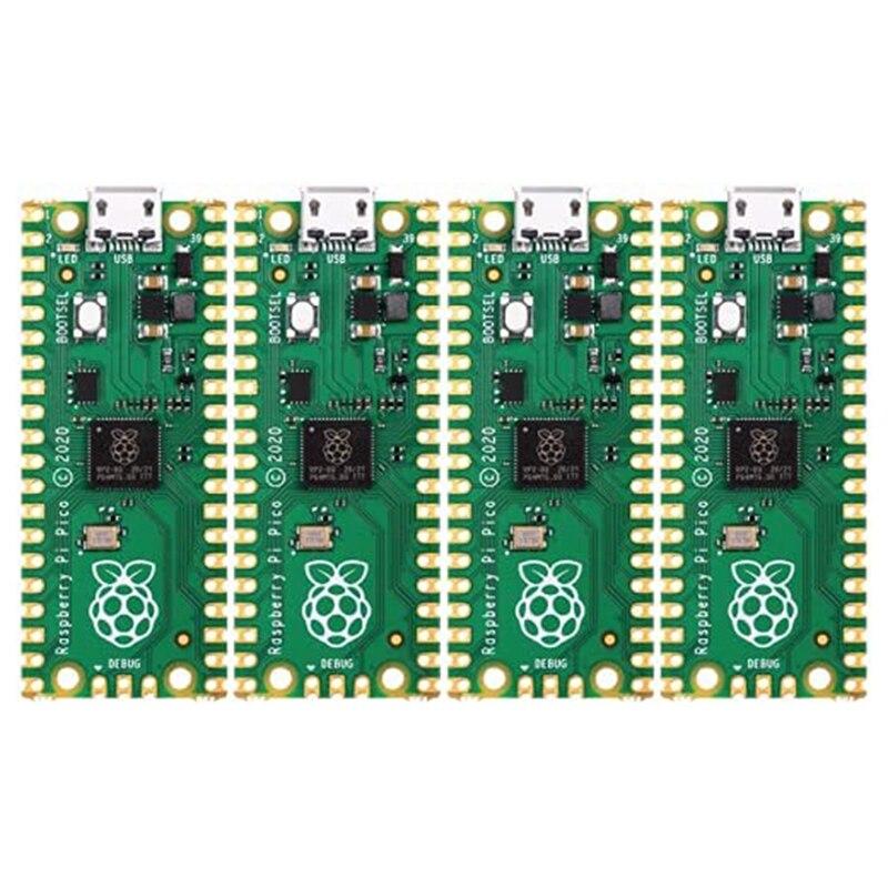 4 قطعة ل استوديو التوت بي بيكو متحكم مجلس ل التوت بي RP2040 ثنائي النواة معالج أي آر إم كورتكس M0 + المعالج
