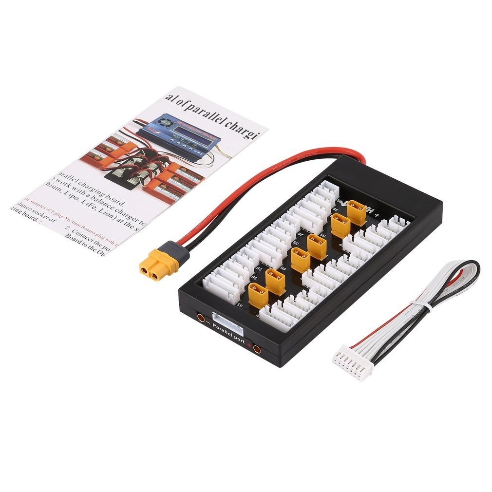 XT30 Plug V2 2S-6S 40A Lipo Battery Parallel Charging Board For IMAX B8 UN A6 RC Quadcopter Battery Power Chager enlarge