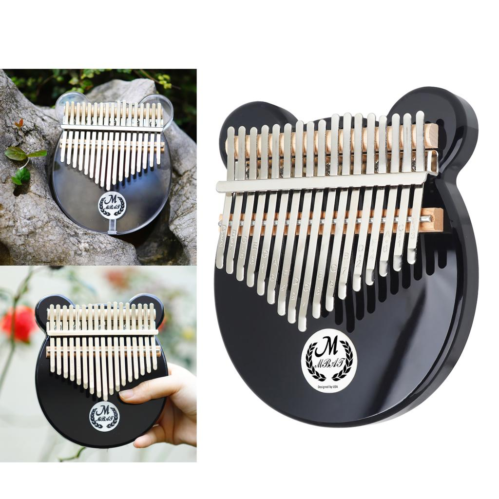 17 Keys EQ Kalimba Thumb Piano Transparent Acrylic with Bag Organzier, Tuning Hammer Musical Instrument Gift for Beginners, Kids enlarge