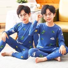 Boys autumn clothes autumn pants set cotton sweater children's underwear pajamas pure cotton spring