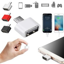 1PCS Mini OTG Cable USB OTG Adapter Micro USB To USB Converter Adapter For Android Smartphone Tablet