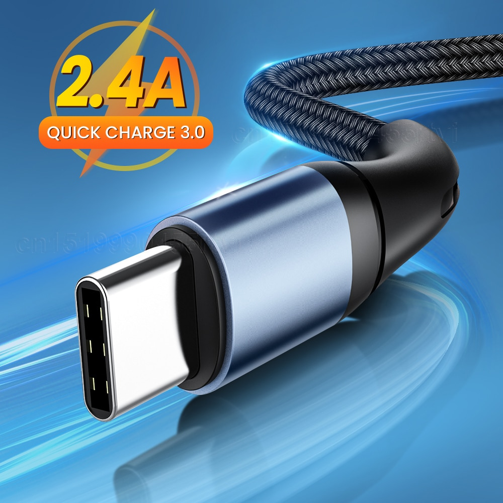 18W 2.4A QC3.0 Micro tipo C USB-C Cable para Xiaomi POCO M3...