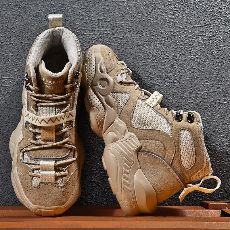 أحذية رياضية عالية أحذية الشتاء للرجال الصيف أحذية رياضية الكورية Boty رجل أسود 2020 الذكور الأبيض الرجال أحذية مشي الكاحل
