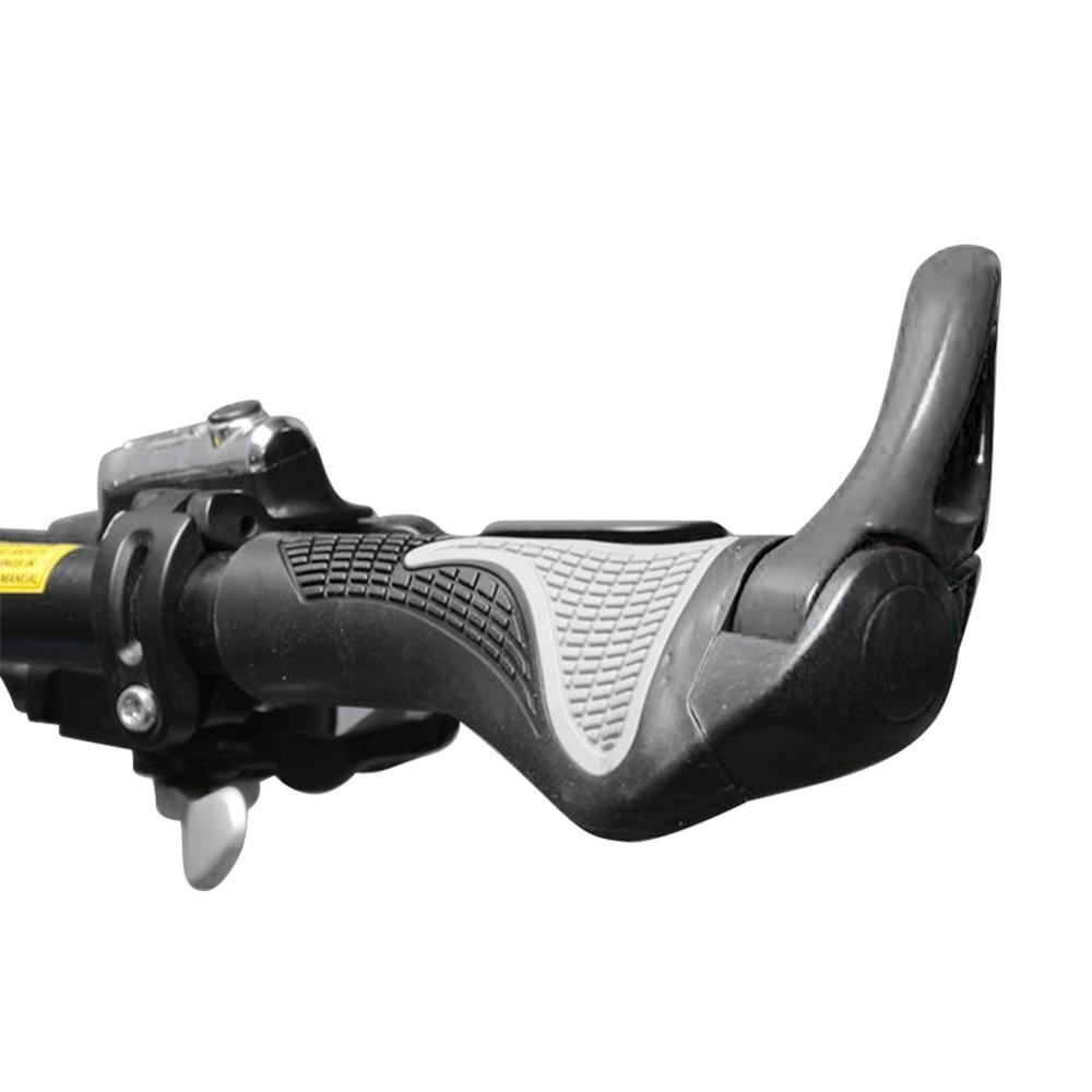 Bicycle Bike MTB Components Bar Ends Handlebars Rubber Aluminum Barend Handle bar Ergonomic Push On Soft Handlebar